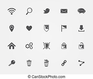 Basic Web icons