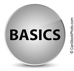 Basics elegant white round button