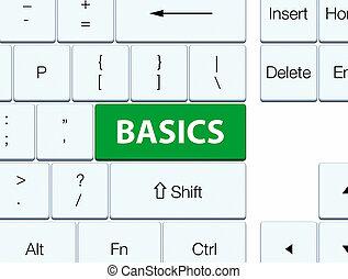 Basics green keyboard button