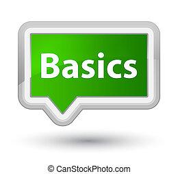 Basics prime green banner button