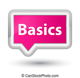 Basics prime pink banner button