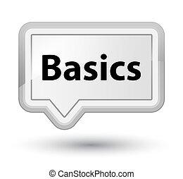 Basics prime white banner button