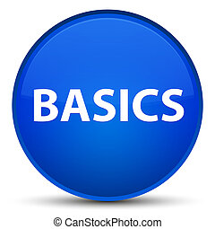 Basics special blue round button