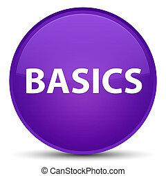 Basics special purple round button