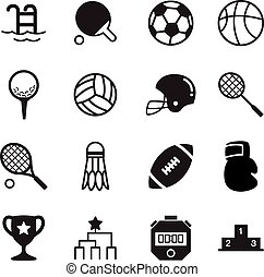 Basics Sports silhouette Icons Vector symbol set