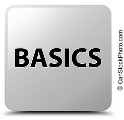 Basics white square button