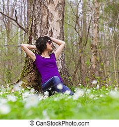 basierend, in, wälder
