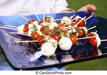 Basil and Tomato canapes