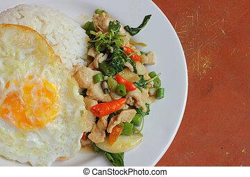 Basil chicken fried rice