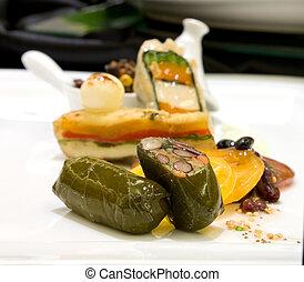 Basil pesto marinated tofu