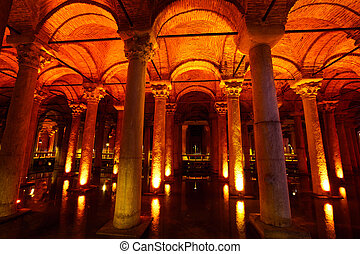 Basilica Cistern - Underground water storage Yerebatan...
