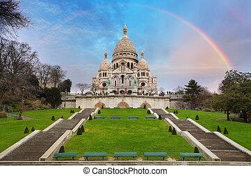 basilica,  Coeur, parigi, francia,  Sacre,  Montmartre