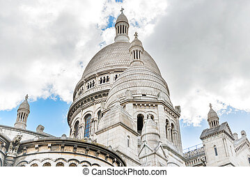 basilica, coeur, sacre, su, montmartre, in, parigi
