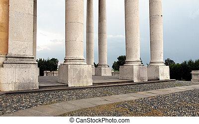Basilica di Superga - Classical columnade at the baroque...