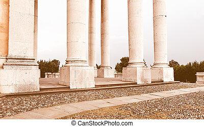 Basilica di Superga vintage - Classical columnade at the...
