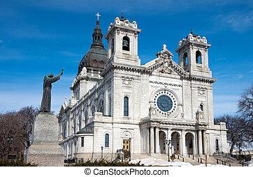Basilica Front Corner Dome and Statue
