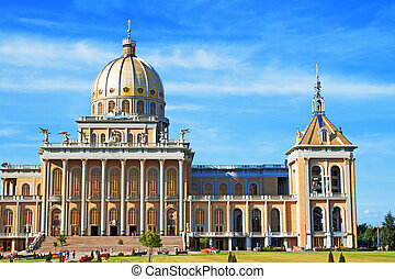 Basilica in Lichen - Poland. The Christian Sanctuary is...