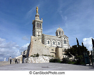 Basilica Notre-Dame-de-la-Garde, Marseilles, France, by ...