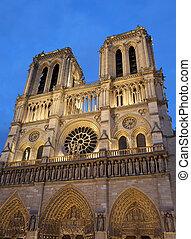 Basilica of Notre Dame in Paris France