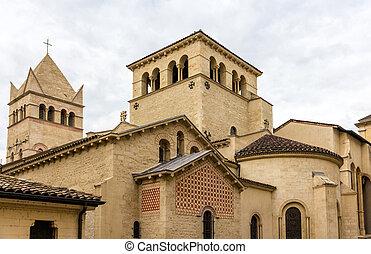 Basilica of Saint-Martin d'Ainay, 11th century church in Lyon, France
