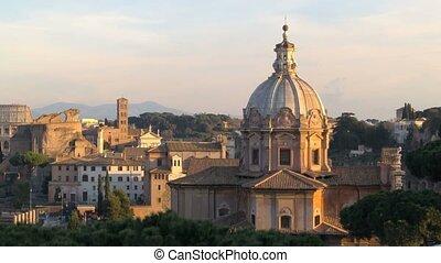 Basilica of Santa Maria in Ara Coeli And Colosseum - View of...