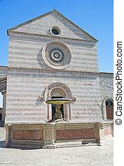 Basilica of St. Chiara. Assisi. Umbria.