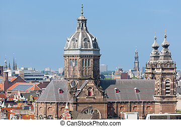 Basilica of St. Nicholas in Amsterdam city