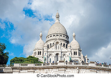 Basilica Coeur Sacre on Montmartre in Paris
