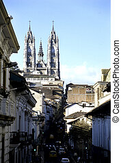 Basilica- Quito, Ecuador - 20th century Church of the...