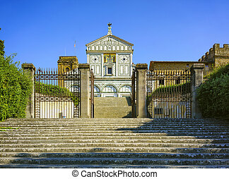 Basilica San Miniato al Monte in Florence or Firenze, church in Tuscany Italy