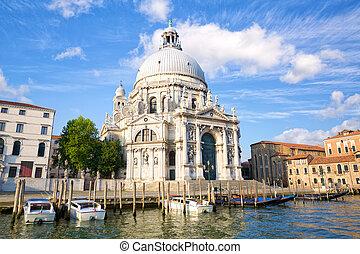 Basilica Santa Maria della Salute on Grand Canal in Venice
