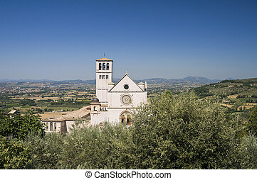 basilica., st. 。, francesco, assisi., umbria.