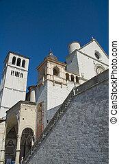 basilica., st. 。, francesco, assisi., umbria.
