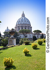 basilica., st, vatican., peter's, rome., italy.