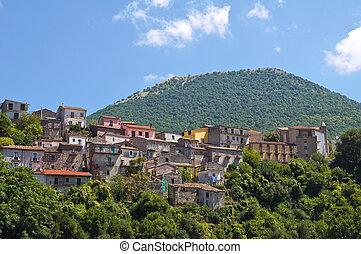 basilicata., パノラマである, italy., 光景, viggianello.