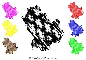 Basilicata map - Basilicata (Autonomous region of Italy) map...