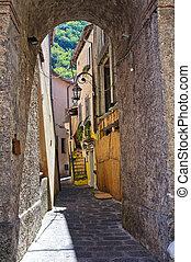 basilicata., italy., maratea., alleyway.