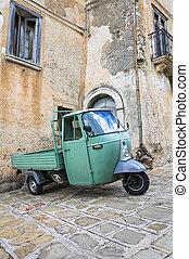 basilicata., italy., moliterno., alleyway.