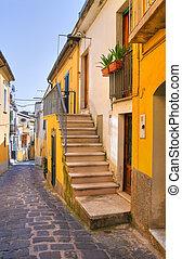 basilicata., melfi., italy., alleyway.