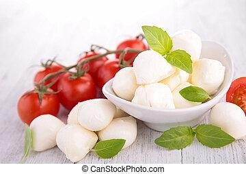 basilico,  mozzarella