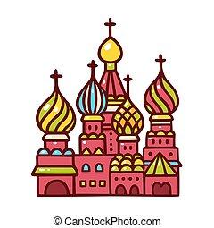 basilicum, rusland, cathedral., moskou, heilige