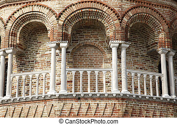 details of the Church of Santa Maria e San Donato in Murano, Venice