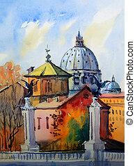 basilika, italy., rom, sant, pietro, vatikan