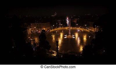 basilique, coup, visiter, italie, rue., papal, vatican, peter, touristes, moule