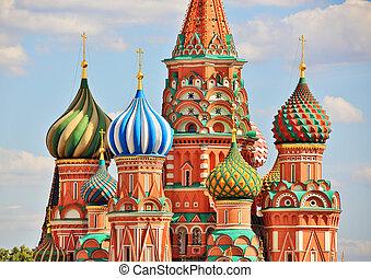 basils, 성인, 러시아, 대성당, 모스크바