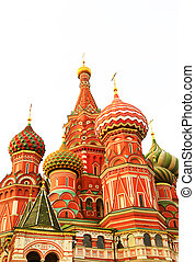 basil's, fragmento, moscú, santo, catedral, rusia, vista