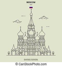 basil's, mosca, russia., santo, punto di riferimento, cattedrale, icona