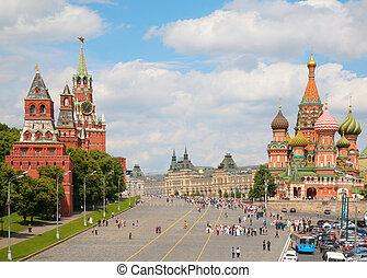basil\'s, st., prospekt, kreml, katedra