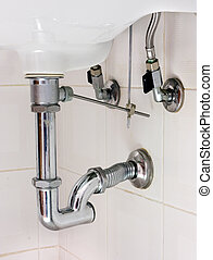 basin siphon - basin drainer - siphon with p-trap and insert...