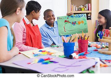 basisschool, kunst brengen onder